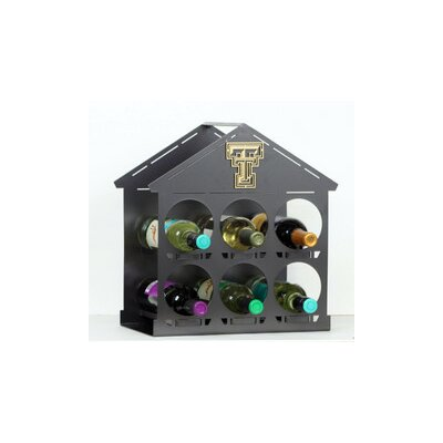 NCAA 6 Bottle Tabletop Wine Rack NCAA Team: Texas Tech University