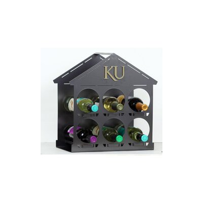 NCAA 6 Bottle Tabletop Wine Rack NCAA Team: University of Kansas