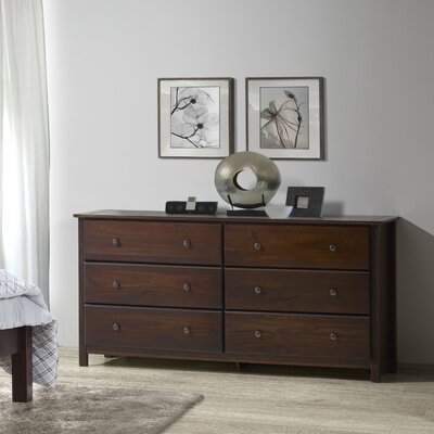 Shaker 6 Drawer Dresser Color: Cherry