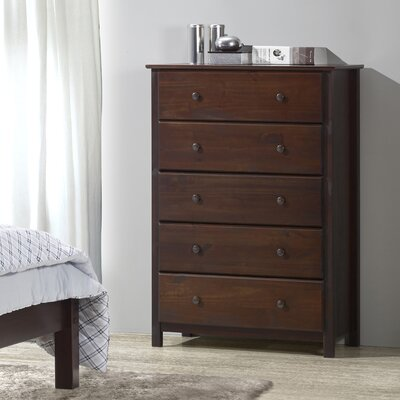 Shaker 5 Drawer Chest Color: Cherry