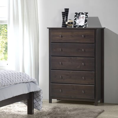 Shaker 5 Drawer Chest Color: Espresso