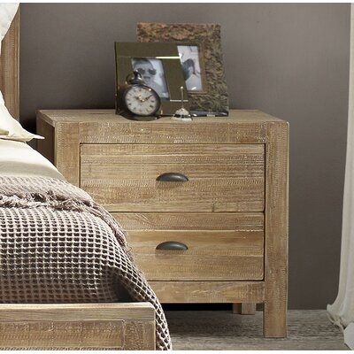 Montauk 2 Drawer Nightstand Color: Driftwood