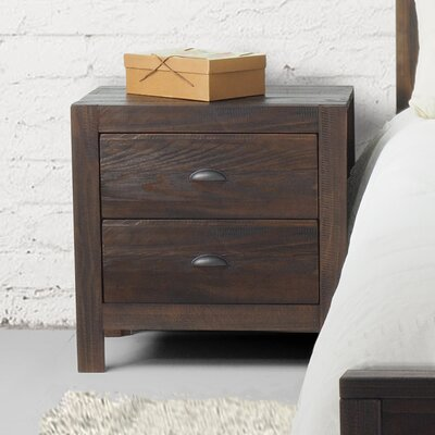 Montauk 2 Drawer Nightstand Color: Barnwood