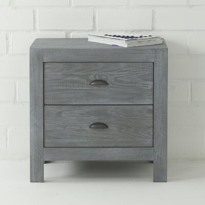 Montauk 2 Drawer Nightstand Finish: Rustic Grey