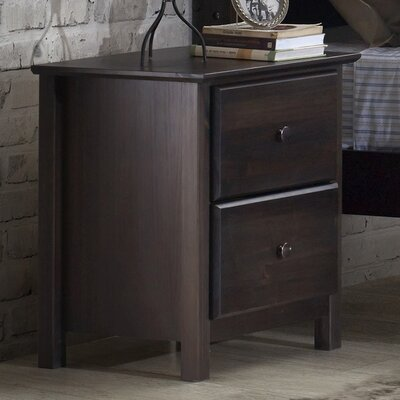 Shaker 2 Drawer Nightstand Color: Espresso