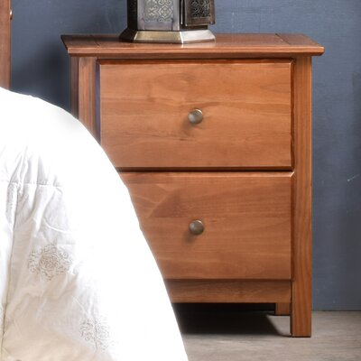 Shaker 2 Drawer Nightstand Finish: Walnut
