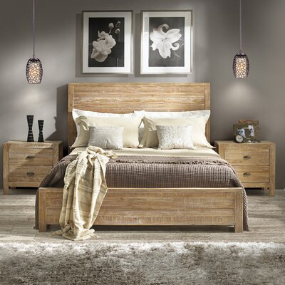 Montauk Panel Bed Finish: Driftwood, Size: King