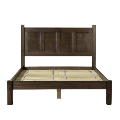 Shaker Platform Bed Color: Espresso, Size: Queen