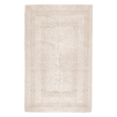 Reversible Cotton Bath Rug Size: Large, Color: Ivory
