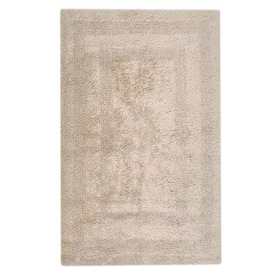 Reversible Cotton Bath Rug Size: Large, Color: Latte