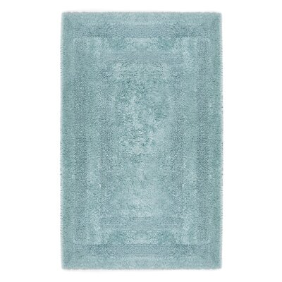 Reversible Cotton Bath Rug Size: Large, Color: Aqua