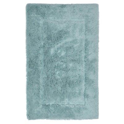Egyptian Quality Cotton Non-Slip Bath Rug Size: Small, Color: Aqua