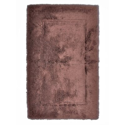 Egyptian Quality Cotton Non-Slip Bath Rug Size: Large, Color: Chocolate