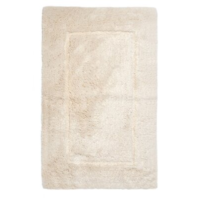 Egyptian Quality Cotton Non-Slip Bath Rug Size: Large, Color: Ivory