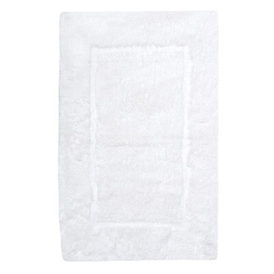 Egyptian Quality Cotton Non-Slip Bath Rug Size: Large, Color: White