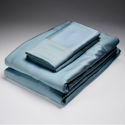 250 Thread Count Flat Sheet Size: Queen, Color: Sea Glass