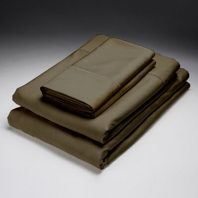 Rayon from Bamboo Pillowcase Size: Standard, Color: Sable
