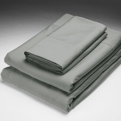 250 Thread Count Flat Sheet Size: King, Color: Stonewash