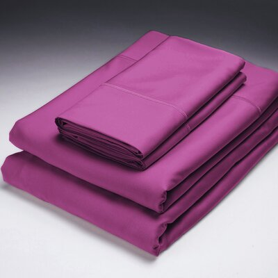 250 Thread Count Flat Sheet Size: King, Color: Burgundy