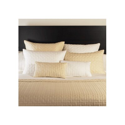 Rayon from Bamboo Block Coverlet Size: King, Color: Ivory