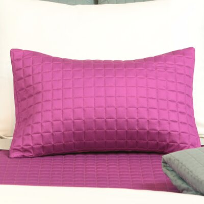 Rayon from Bamboo Block Sham Size: King, Color: Berry