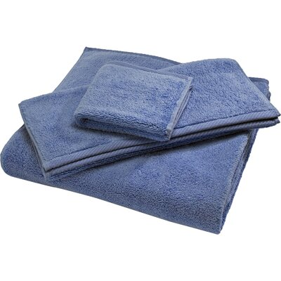 Reversible Cotton Bath Rug Size: Small, Color: Periwinkle