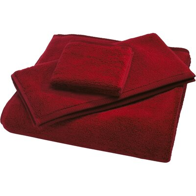 Reversible Cotton Bath Rug Size: Small, Color: Claret