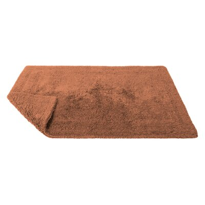 Reversible Cotton Bath Rug Size: Small, Color: Paprika