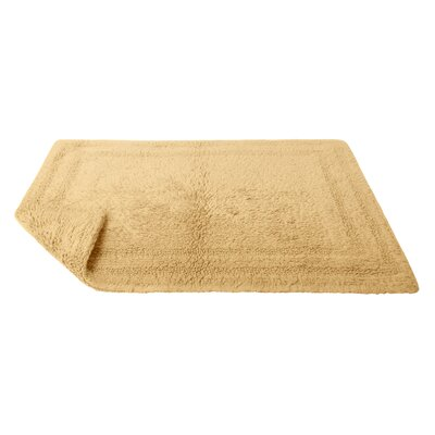Reversible Cotton Bath Rug Size: Large, Color: Wheat