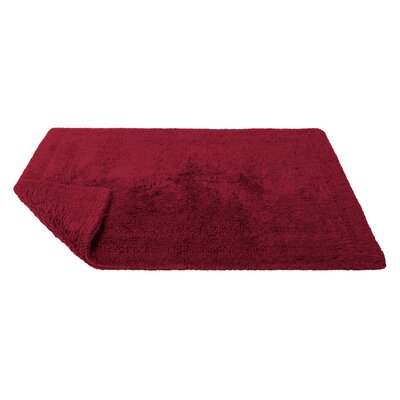 Reversible Cotton Bath Rug Size: Small, Color: Claret