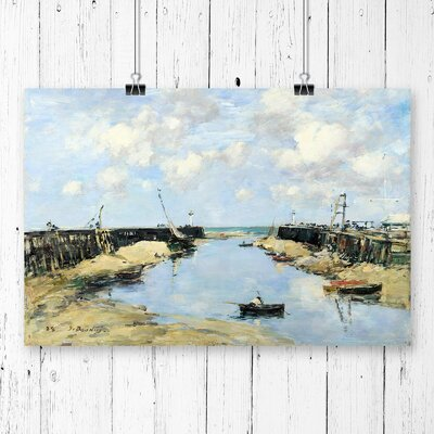 'Trouville Harbour Entrance' by Eugene Boudin Painting Print