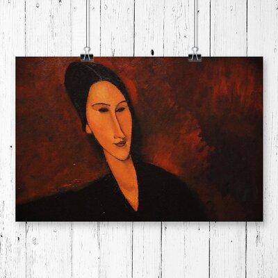 'Portrait' by Amedeo Modigliani Painting Print.