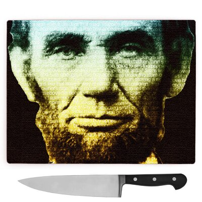 Abraham Lincoln President Large Chopping Board