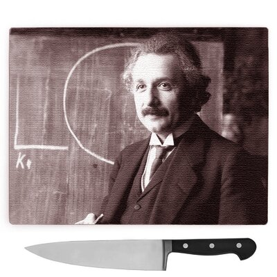 Albert Edelfelt Albert Einstein Large Chopping Board