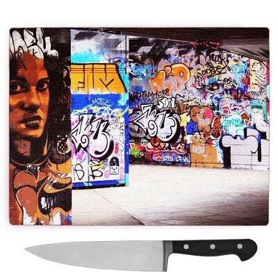 South Bank London Graffiti Wall Art Large Chopping Board