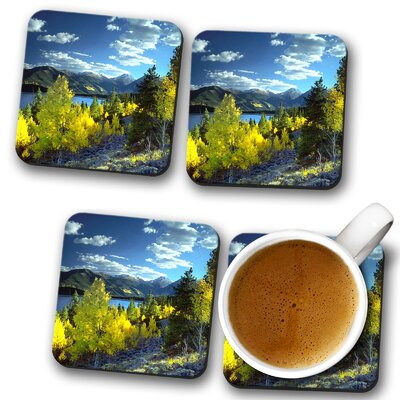 Landscape Twin Lakes Aspen Colorado Mountains and Forest Coaster