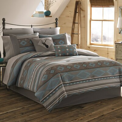 Alesha Reversible Comforter Set Size: Twin