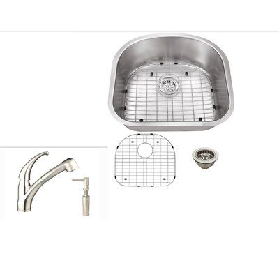 21.25 x 18.88 Undermount Kitchen Sink with Faucet