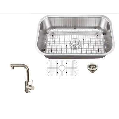 30 x 18 Single Bowl Kitchen Sink with Faucet