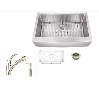 33 x 21.25 Stainless Steel Single Bowl Undermount Kitchen Sink with Faucet