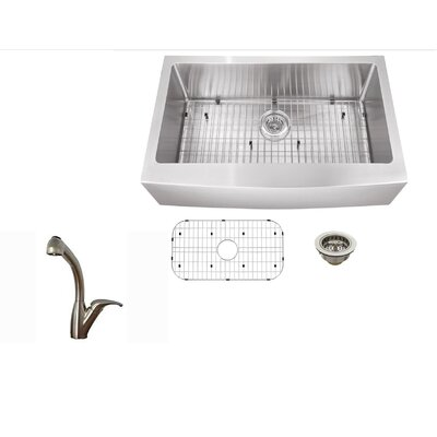 33 x 21 Stainless Steel Single Bowl Undermount Kitchen Sink with Faucet