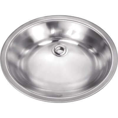 19.13 x 16.13 Stainless Steel 18 Gauge Bar Sink