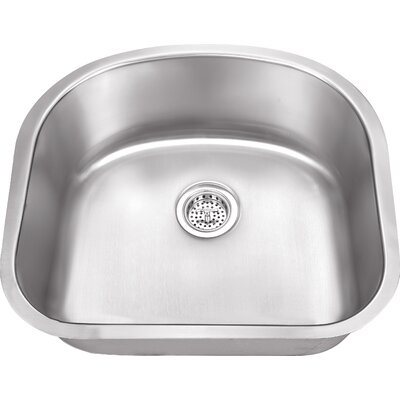 23.25 x 20.88 Stainless Steel 18 Gauge Single Bowl Kitchen Sink
