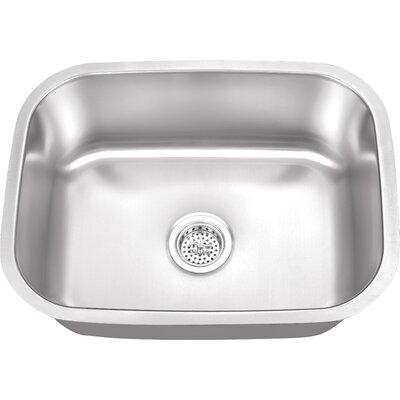 23.5 x 17.75 Stainless Steel 18 Gauge Single Bowl Bar Sink