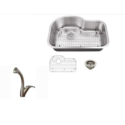 29.5 x 16 Undermount Kitchen Sink with Faucet