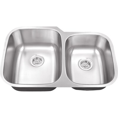32 x 20.75 Double Bowl Kitchen Sink