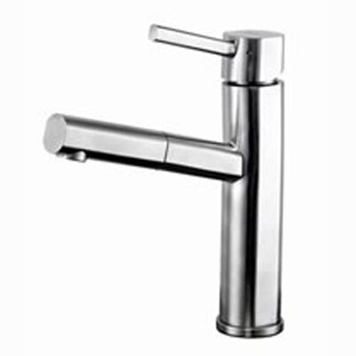 Single Handle Single Hole Low Profile Pull Out Kitchen Faucet