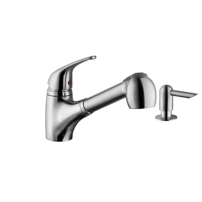 Pull Out Single Handle Kitchen Faucet Faucet Finish: Polished Chrome