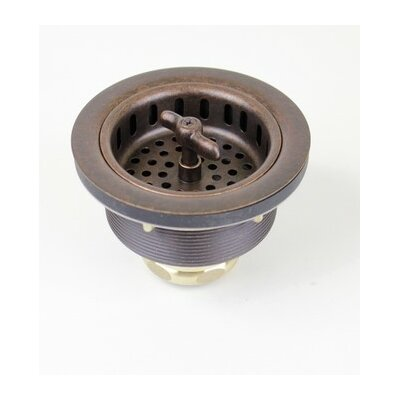 Copper 3 1/2 in. Wing Nut Kitchen / Bar / Prep Basket Strainer