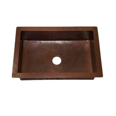 33 x 22 Single Copper Kitchen Sink